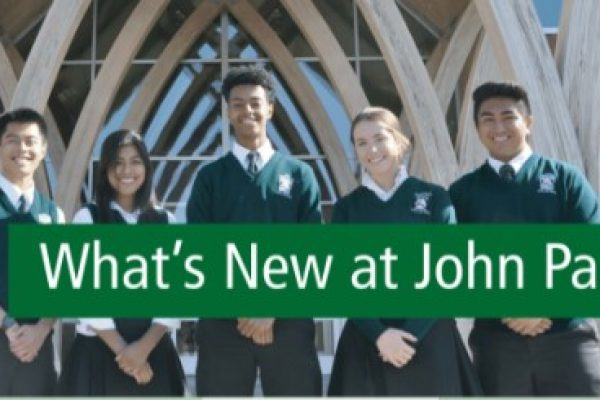 What's New at John Paul The Great<br>April 2021